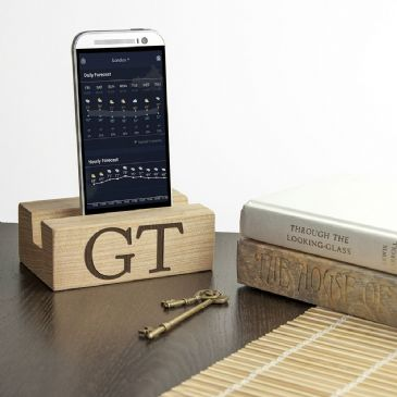 Personalised Welsh Ash Phone Tidy and Stand